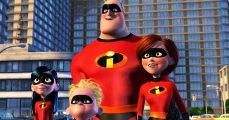 A família de super-heróis de Os Incríveis. Foto: Divulgação