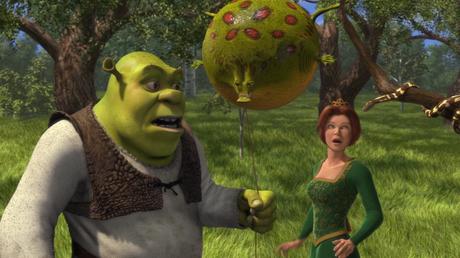 O ogro Shrek e a princesa Fiona no primeiro filme da série. Foto: Divulgação
