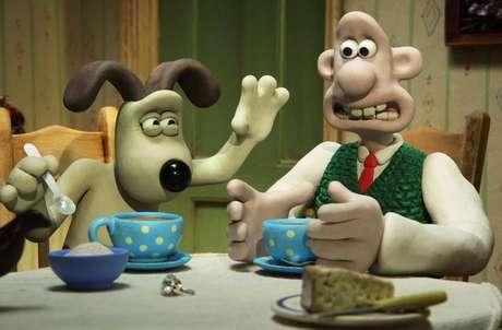 Wallace e seu cão Gromit, personagens de animação feita em massa de modelar. Foto: Divulgação