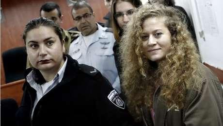 Ahed foi detida dias depois da agressão, em dezembro de 2017