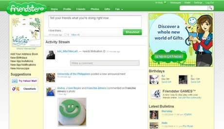 Friendster, um misto de Facebook com Twitter before it was cool (Imagem: Reprodução)