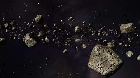 A maior parte dos asteroides fica em cinturões ao redor do Sol