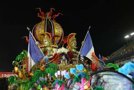 A Acadêmicos do Tatuapé, que conquistou este ano o bicampeonato no Carnaval paulistano