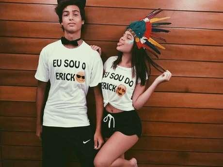 Mel Maia e o namorado, Erick Andreas, são criticados por fantasia de Carnaval