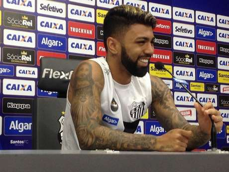 Gabigol se mostrou ansioso para a Libertadores no Santos (Foto: Gabriela Brino)