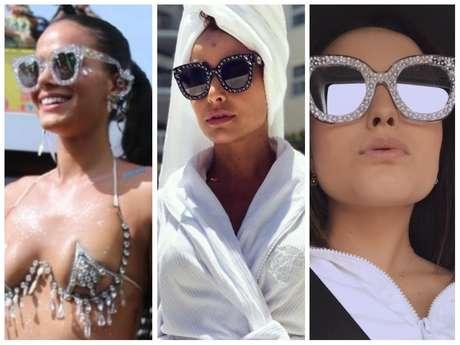 Óculos da Gucci conquista famosas (Fotos: Daniel Pinheiro/AgNews - Instagram/Reprodução)