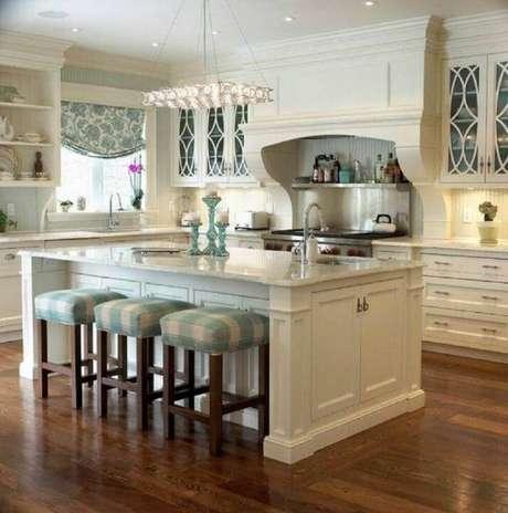 6. Modelo de cozinha com ilha no estilo americano para inspirar