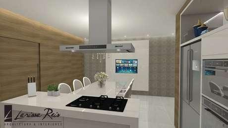 21. Projeto de cozinha com ilha