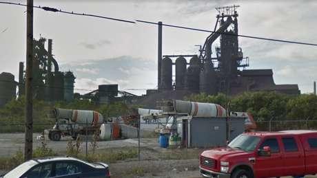 Fornos da empresa United States Steel em Detroit podem ser uma das explicações para o ruído de Windsor   Imagem: Google Street View