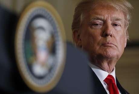 Presidente dos Estados Unidos, Donald Trump em coletiva de imprensa na Casa Branca, em Washington, EUA 23/02/2018 REUTERS/Kevin Lamarque