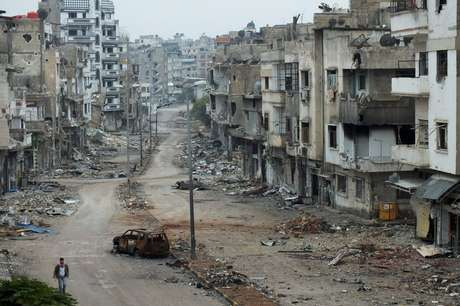 Homs, chamada de 'capital da revolução', foi uma das cidades que mais sofreram