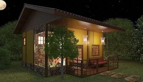 Frente de casas inspire se nesses 50 modelos de fachadas - Modelos de casas de campo pequenas ...
