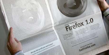 Anúncio do Firefox no The New York Times (Foto: Reprodução/Haberman)
