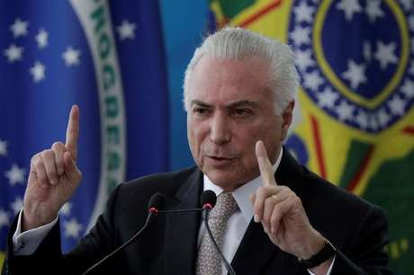 Temer faz discurso em Brasília 27/2/2018 REUTERS/Ueslei Marcelino