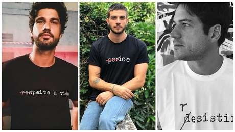Bruno Cabrezizo, Chay Sued e Marco Pigossi também participam da campanha (Fotos: Reprodução)