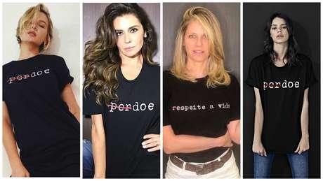 Fiorella Mattheis, Gio Ewbank, Didi Wagner e Laura Neiva (Fotos; Reprodução)