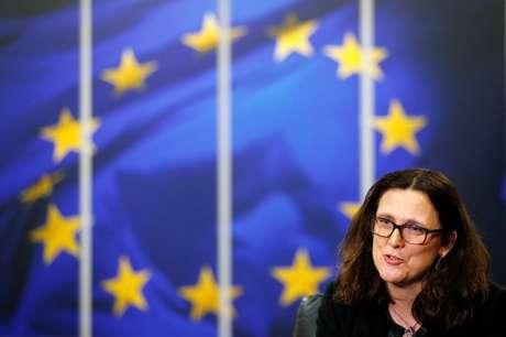Comissária de Comércio da União Europeia, Cecilia Malmstrom, durante entrevista com a Reuters em Bruxelas, na Bélgica 15/01/2018 REUTERS/François Lenoir