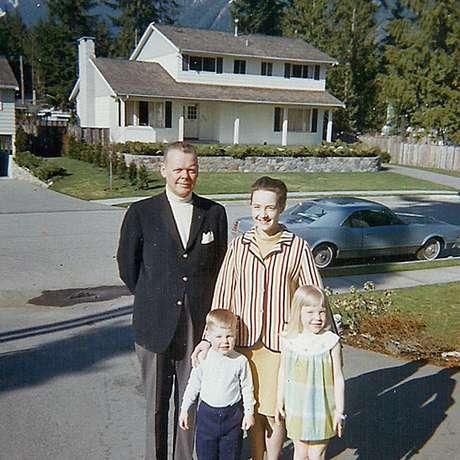 Warren, Ruth, Teddy and Pauline, por volta de 1969, antes da separação do casal
