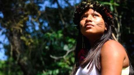 Considerado vulnerável pela Unesco, o idioma Mbyá Guarani, do tronco tupi-guarani, é falado por cerca de 6 mil pessoas no Brasil | Foto: Tânia Rêgo/Agência Brasil