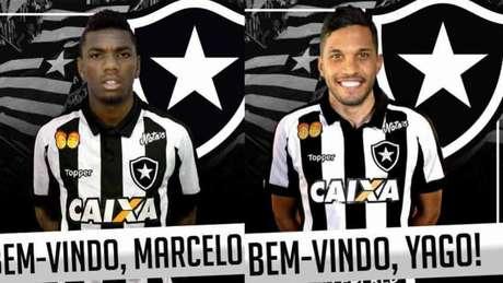 Yago e Marcelo são apresentados oficialmente pelo Botafogo