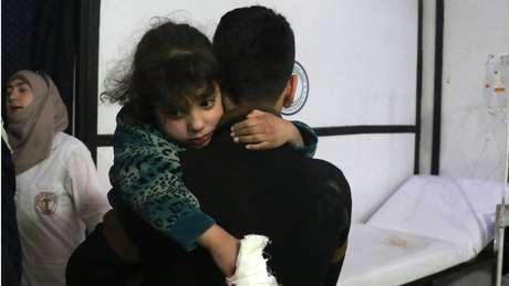 Criaça ferida em Douma
