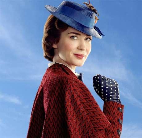 Emily Blunt como a nova Mary Poppins