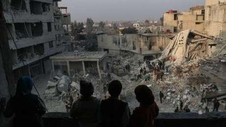 76% das residências de Ghouta Oriental foram destruídas