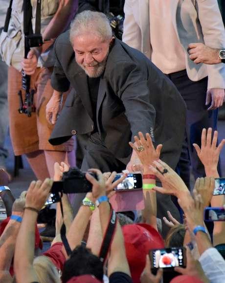 Ex-presidente Luiz Inacio Lula da Silva durante evento em Belo Horizonte 21/02/2018 REUTERS/Washington Alves