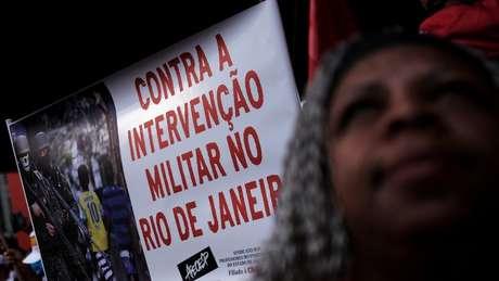 Intervenção federal foi alvo de manifestações no Rio