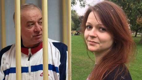 Ex-agente de inteligência russo e sua filha estão internados em estado grave no hospital   Fotos: EPA/ Reprodução Facebook