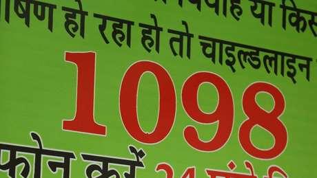 '1098' é o número de auxílio a crianças em dificuldades na Índia | Foto: Peter Leng/Neha Sharma