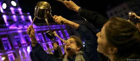 Mulheres protestam em Madri