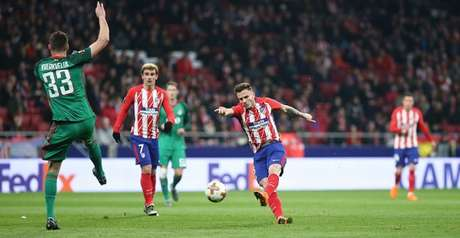 O Atlético de Madrid golea o Lokomotiv por 3 a 0, com direito a golaço deNiguez (Foto: Reprodução / Twitter)