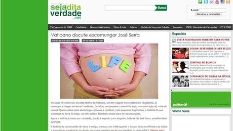 Blog criado para favorecer Dilma em 2010 tinha posts com notícias enviesadas, falsas ou publicações desbancando boatos contra candidata | Imagem: Reprodução
