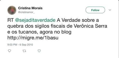 Perfis replicavam publicações do blog e perfil no Twitter 'Seja Dita Verdade' | Imagem: Reprodução/Twitter