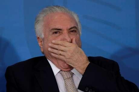 Presidente Michel Temer durante cerimônia em Brasília 07/03/2018 REUTERS/Ueslei Marcelino