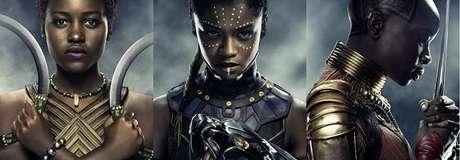 Nakia, Shuri e Okoye, do filme Pantera Negra
