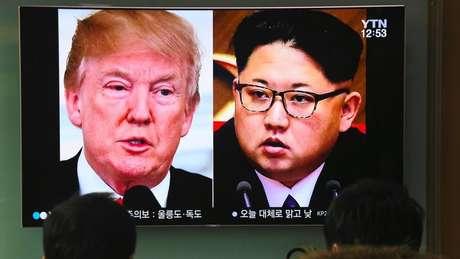 Encontro entre Trump e Kim Jong-un está sendo planejado após meses de ameaças e insultos