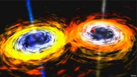 As ondas gravitacionais previstas por Einstein são geradas por distorções no espaço-tempo | Foto: Nasa