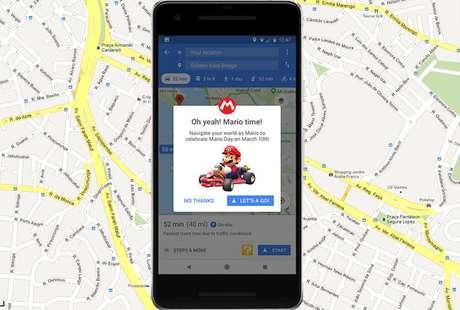 Agora você pode liberar o Mario Kart no Google Maps
