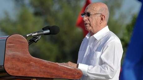 José Ramón Machado Ventura é um dos líderes que pegaram em armas à época da Revolução Cubana