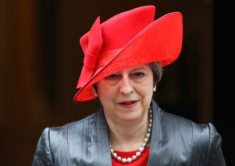 Theresa May deixa gabinete em Londres  12/3/2018    REUTERS/Simon Dawson