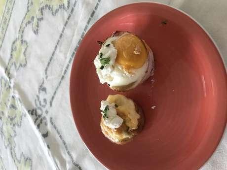 Ovos com camarão
