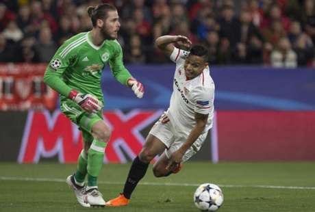 De Gea foi o grande nome do United no jogo de ida entre as duas equipes (Foto: Jorge Guerrero / AFP)