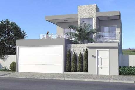 60 fachada de muro para inspirar o seu projeto for Casa moderna 6 x 12