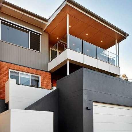 fotos de muros para frentes de casas 60 Fachada De Muro Para Inspirar O Seu Projeto