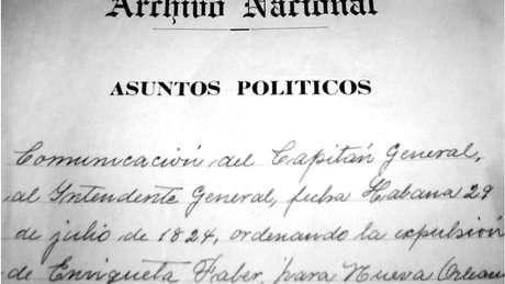 No Arquivo Nacional de Cuba, estão os documentos do processo judicial e da deportação de Enriqueta Favez | Foto: Cortesia/ Julio César González Pagés