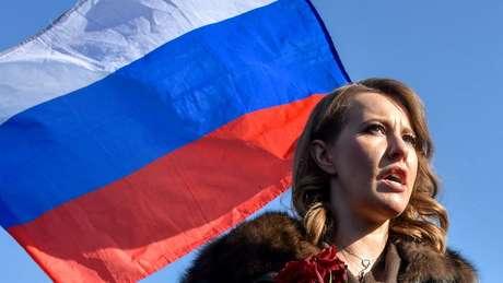 Ksenia é a única candidata mulher dentre os oito homens na disputa