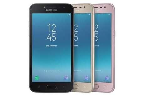 Galaxy J2 Pro Nas cores preto, dourado e rosa (Imagem: Samsung)