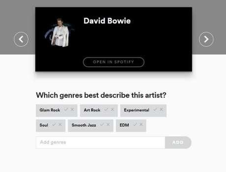 Com as enquetes do Line-In, Spotify quer melhorar seu banco de dados (Captura de tela: Felipe Demartini)